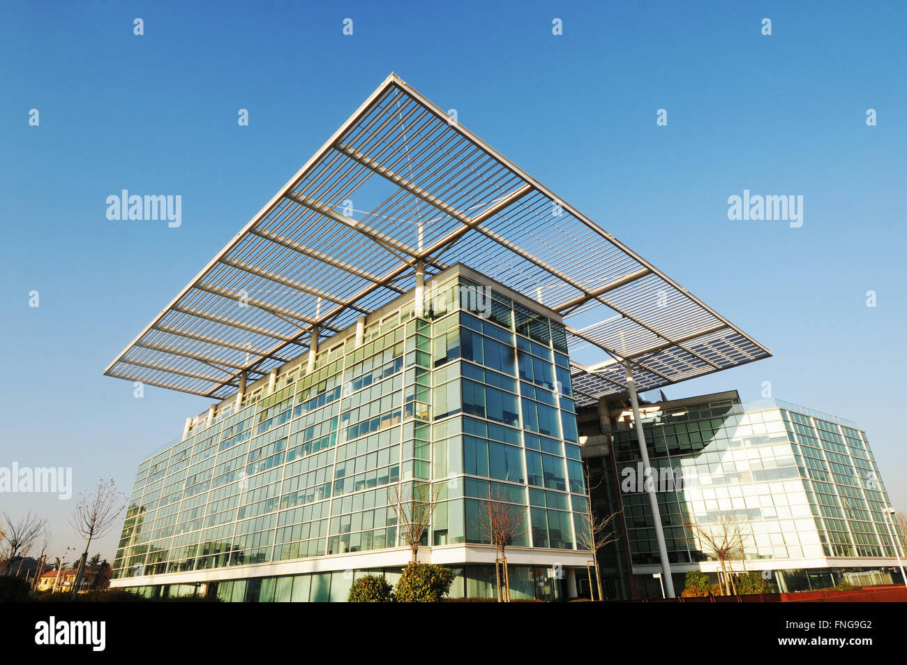 Europe Italy Lombardy Milan Pero Perseo Expo Disstrict 2015 Il sole 24 ore district designed by Goring & Staja - Stock Image