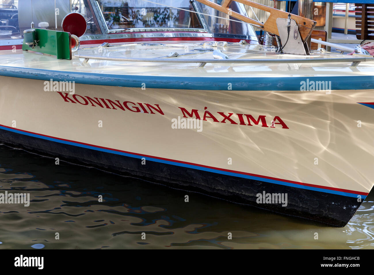 Launch in Amsterdam with the name of queen maxima - Stock Image