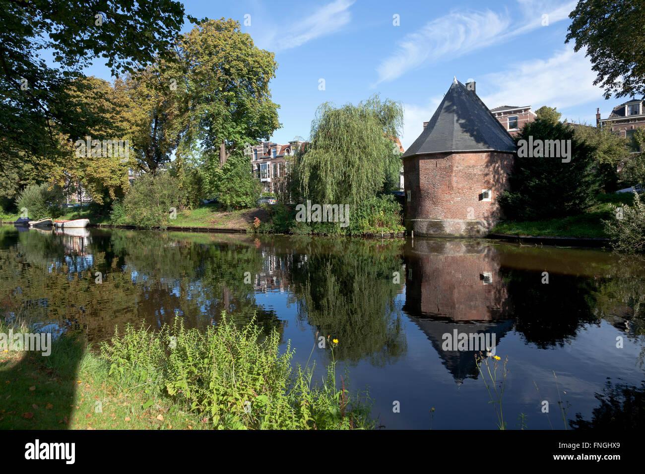 Ammunition Magazine in the city of Leiden - Stock Image