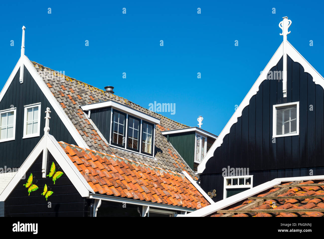Amsterdam, Waterland district, Marken, view of the traditional house of the village - Stock Image
