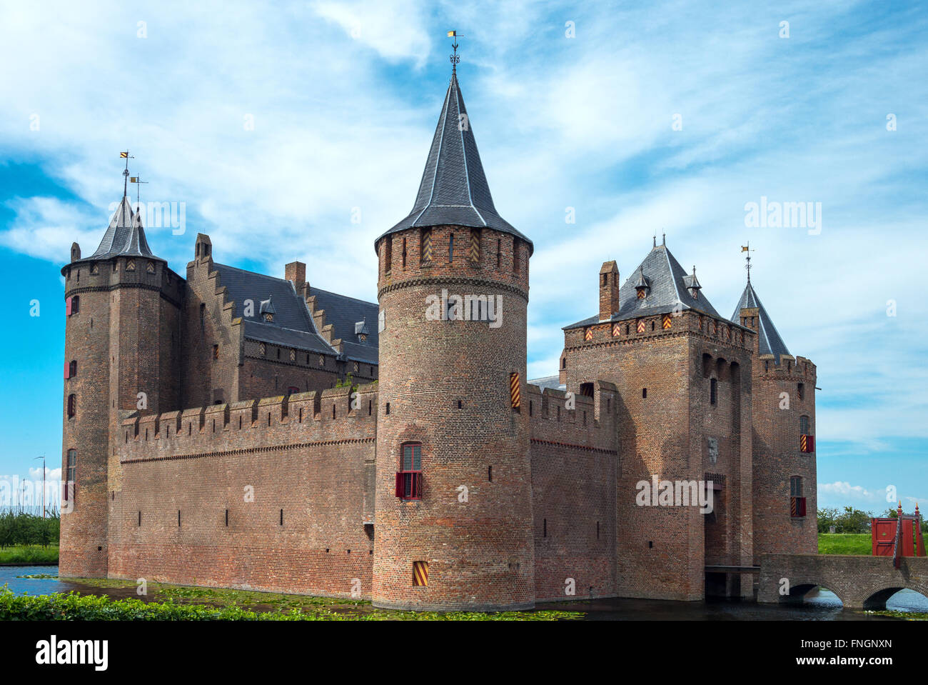 Amsterdam, Waterland district, Muiden, the Amsterdam castle Stock Photo