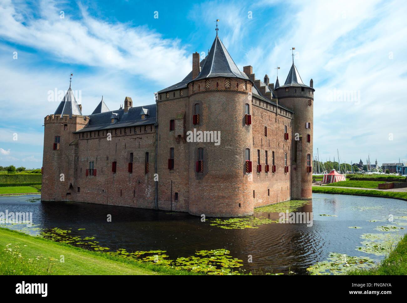 Amsterdam, Waterland district, Muiden, the Amsterdam castle Stock Photo
