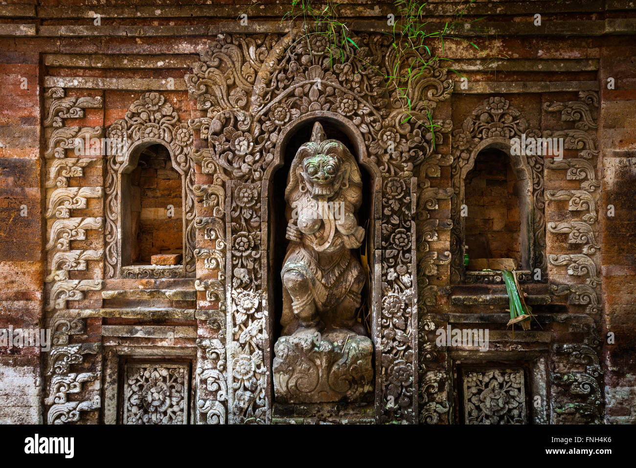 Rangda the demon queen statue in Ubud Palace, Bali, Indonesia. - Stock Image