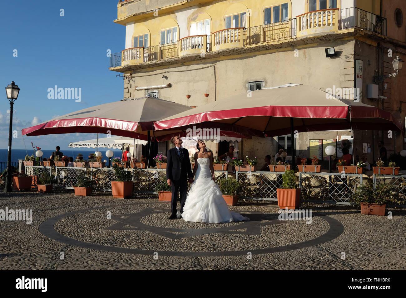 wedding in Tropea,Calabria,Italy - Stock Image