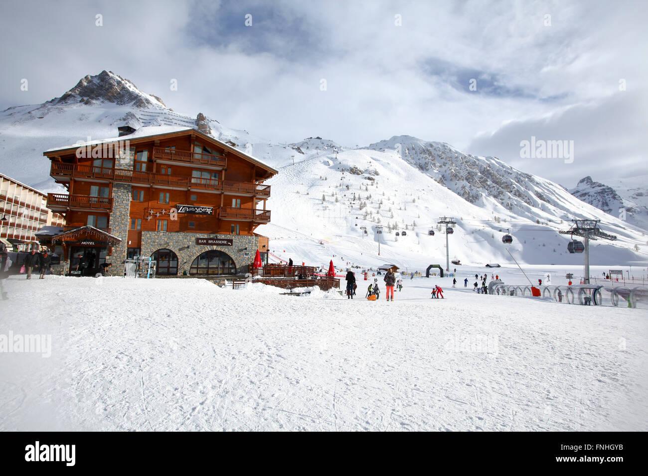 Tignes, France, Ski resort - Stock Image