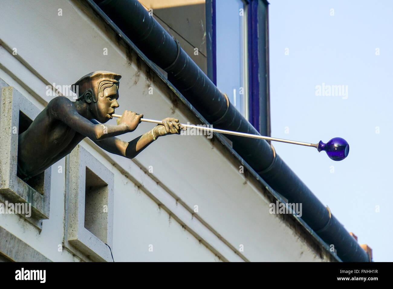 Glass blower Szentendre, Pest county, Hungary - Stock Image