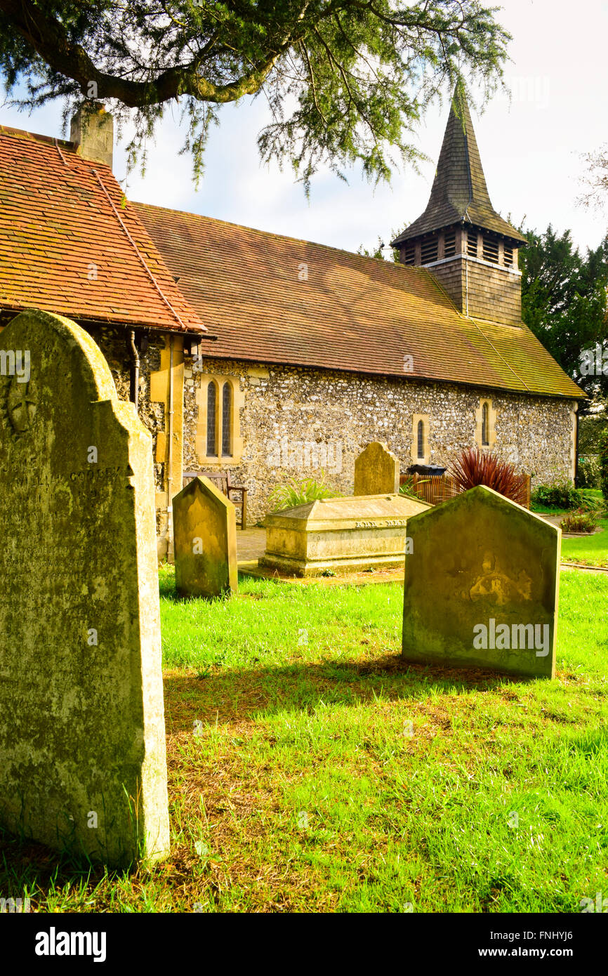 Diocese of Guildford. Parish Church of St. Mary the Virgin. Chessington. London, United Kingdom - Stock Image