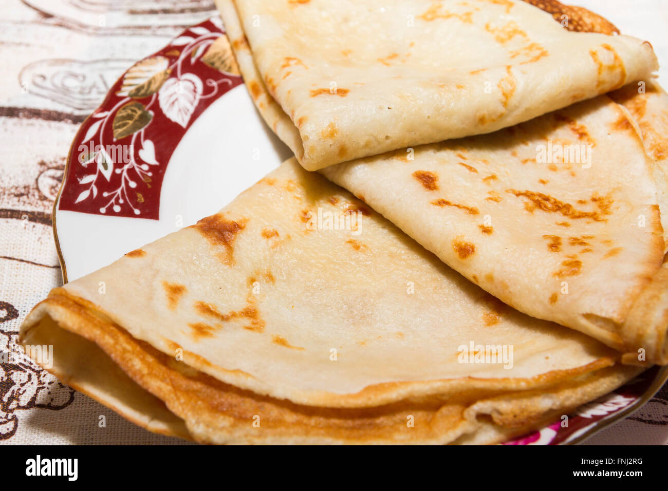 Pancakes for Breakfast - Stock Image