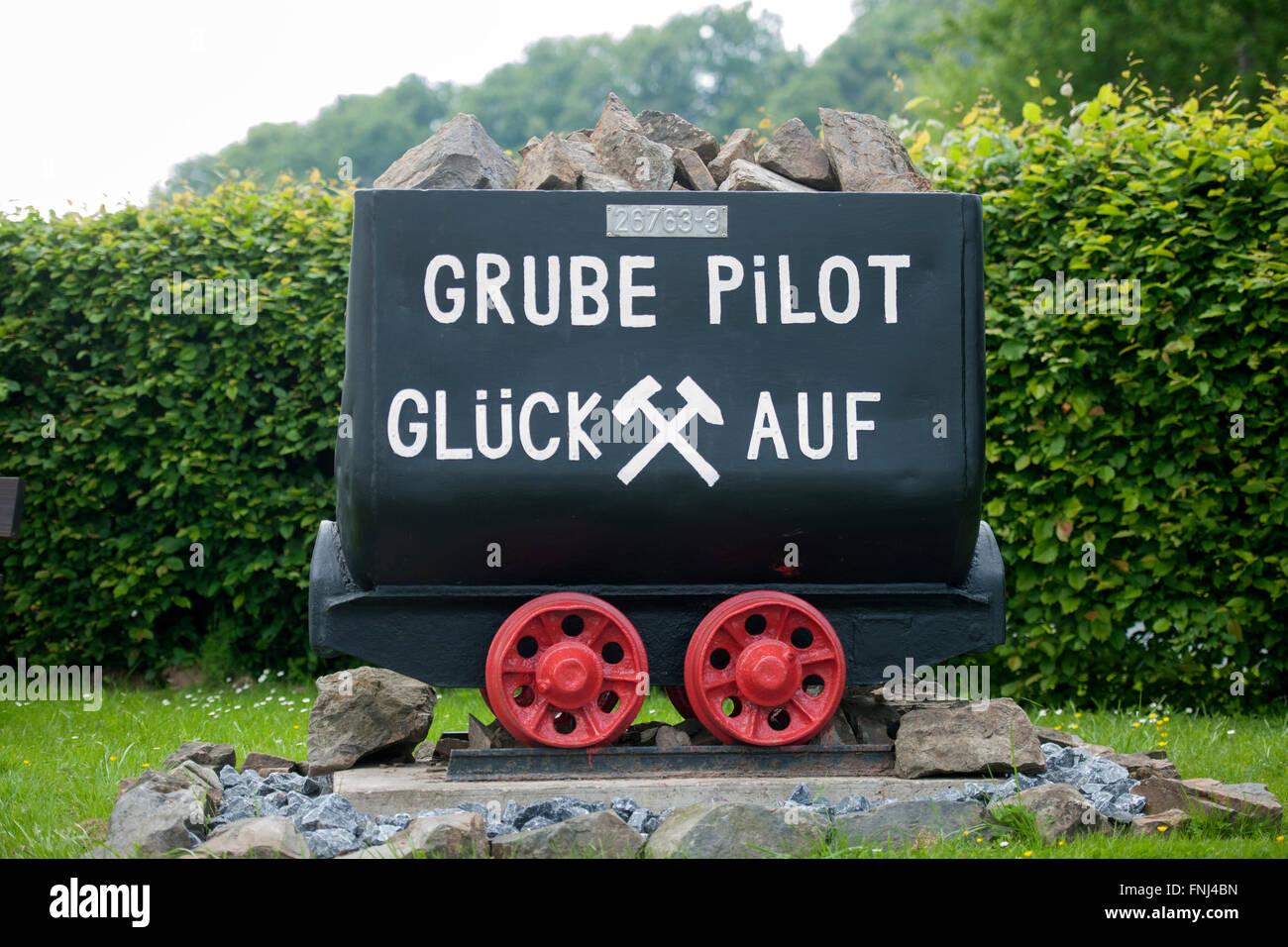 Deutschland, Rhein-Sieg-Kreis, Lohmar, Wahlscheid, Grube Pilot ist eine ehemalige Eisenerz-Grube in Lohmar-Wahlscheid - Stock Image