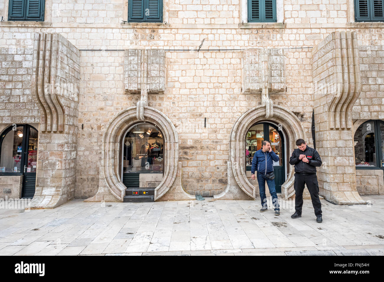 Star Wars adaptation of shopfronts in the old city of Dubrovnik, Croatia. - Stock Image