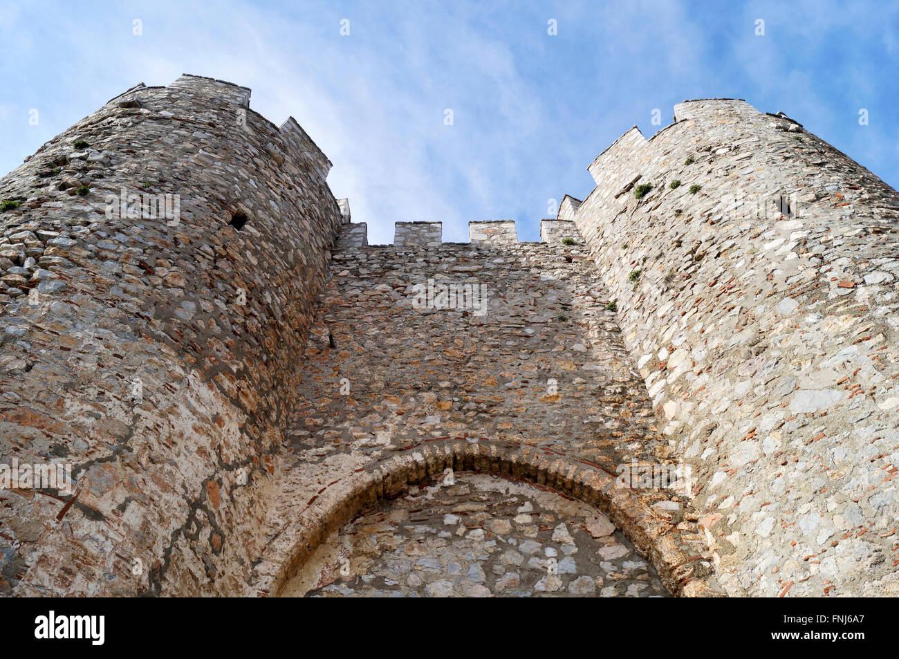 Tsar Samuel's fortress in Ohrid, Macedonia - Stock Image