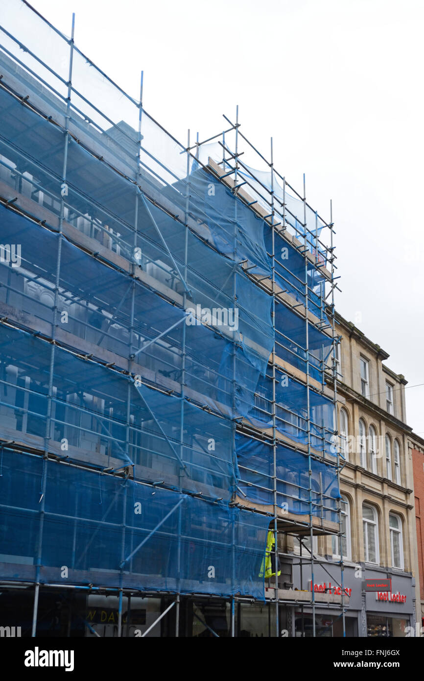 scaffolding, Clumber Street, Nottingham. - Stock Image
