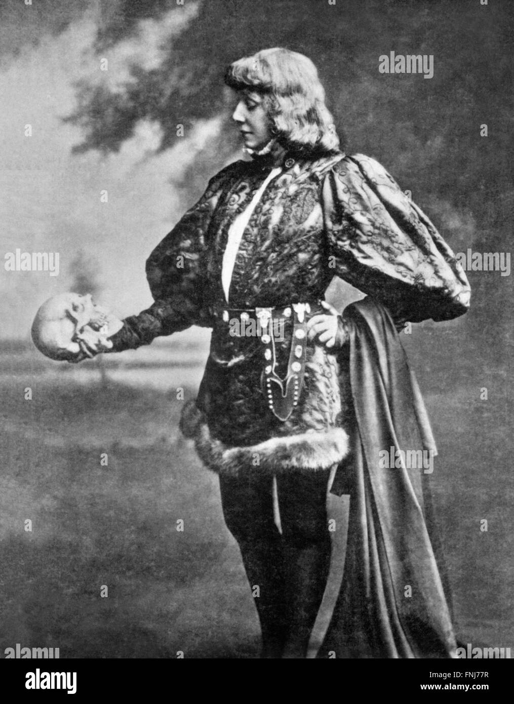 Sarah Bernhardt as Hamlet , c.1899 - Stock Image