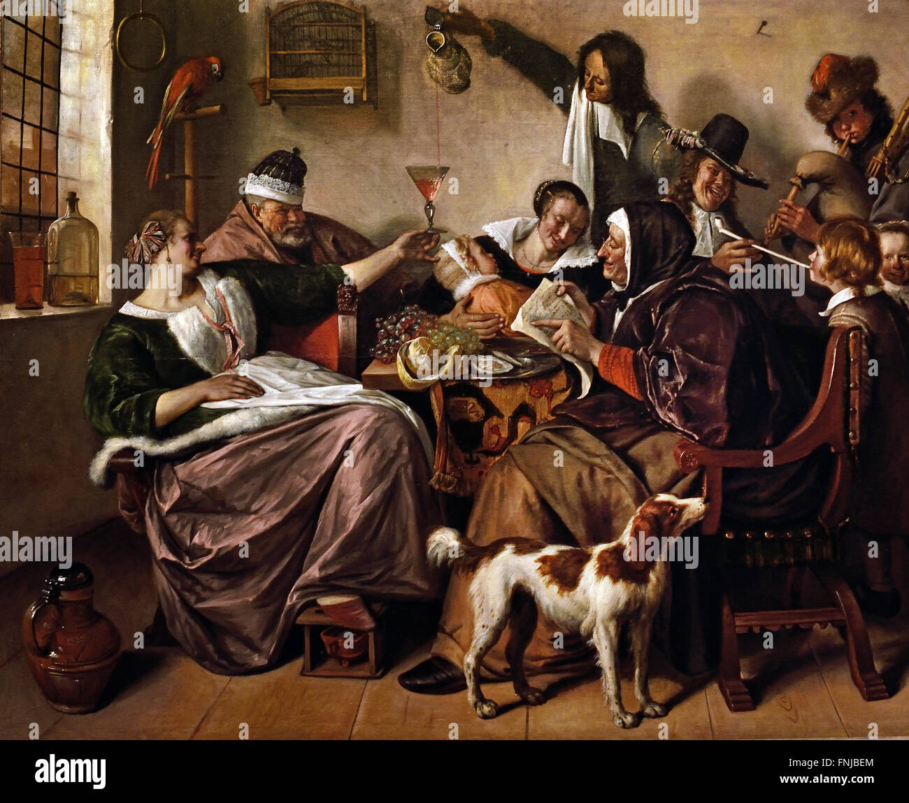 As the Old Sing, So Pipe the Young 1668 - 1670 Jan Steen 1626 - 1679 Dutch  Netherlands