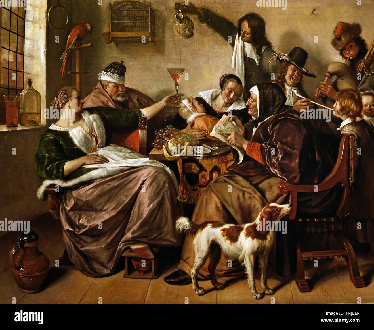 As the Old Sing, So Pipe the Young 1668 - 1670 Jan Steen 1626 -