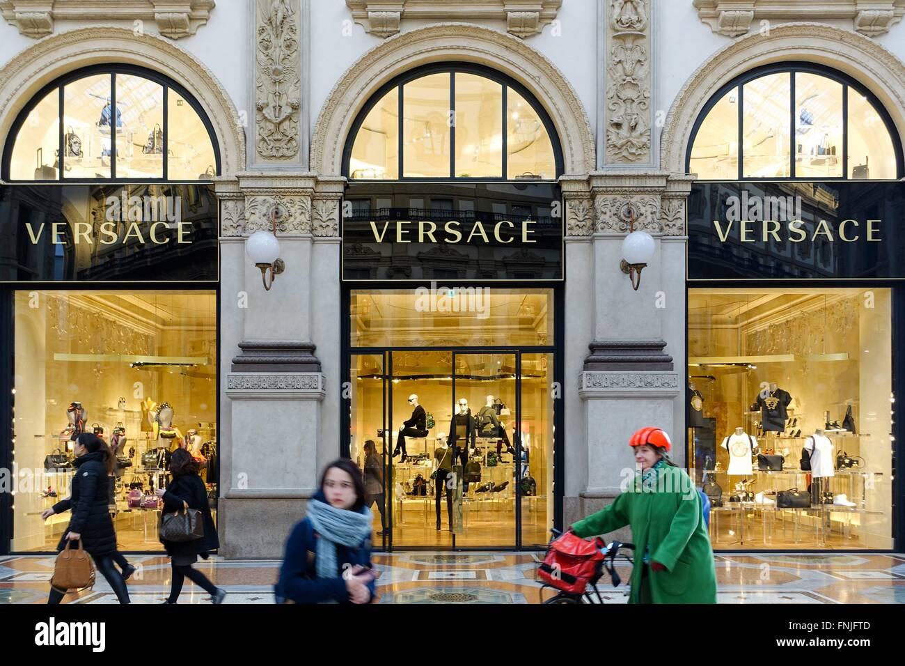c810509325 Italy  Versace boutique at Galleria Vittorio Emanuele II