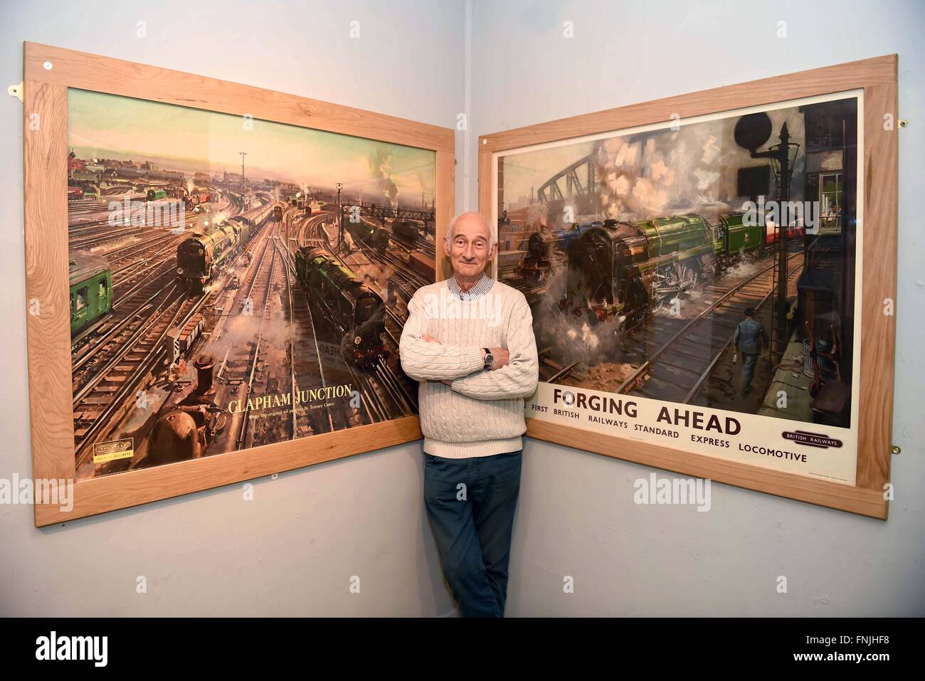 Paul Atterbury, British antiques expert and TV presenter, at the press preview of Dorset County Museum's exhibition, - Stock Image
