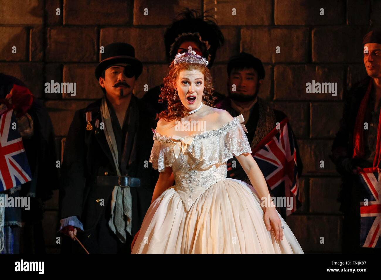 Oper Leipzig, DE, 15th of March 2016, Wallis Giunta performs as Angelina in Gioacchino Rossini's opera 'La - Stock Image