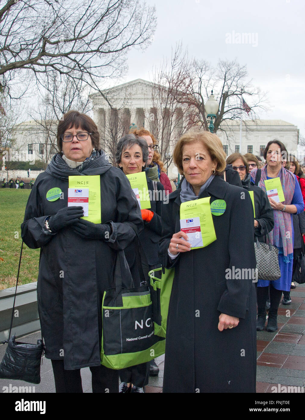 National Council of Jewish Women (NCJW) CEO Nancy Kaufman (left) and National President Debbie Hoffmann (right) - Stock Image