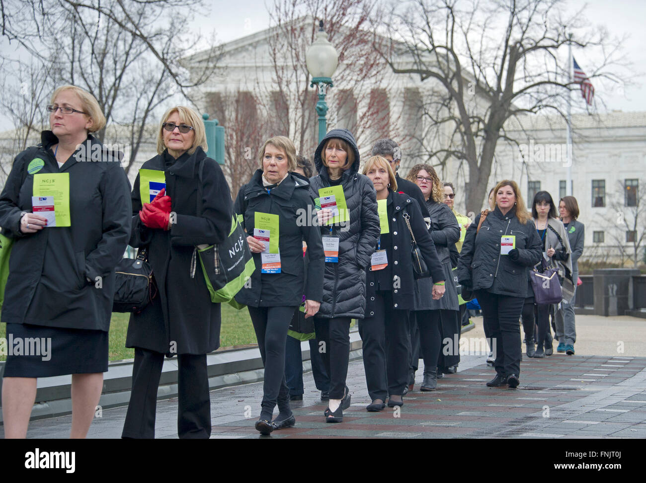 As part of an action organized by the National Council of Jewish Women (NCJW), nearly 400 women walked in silent - Stock Image