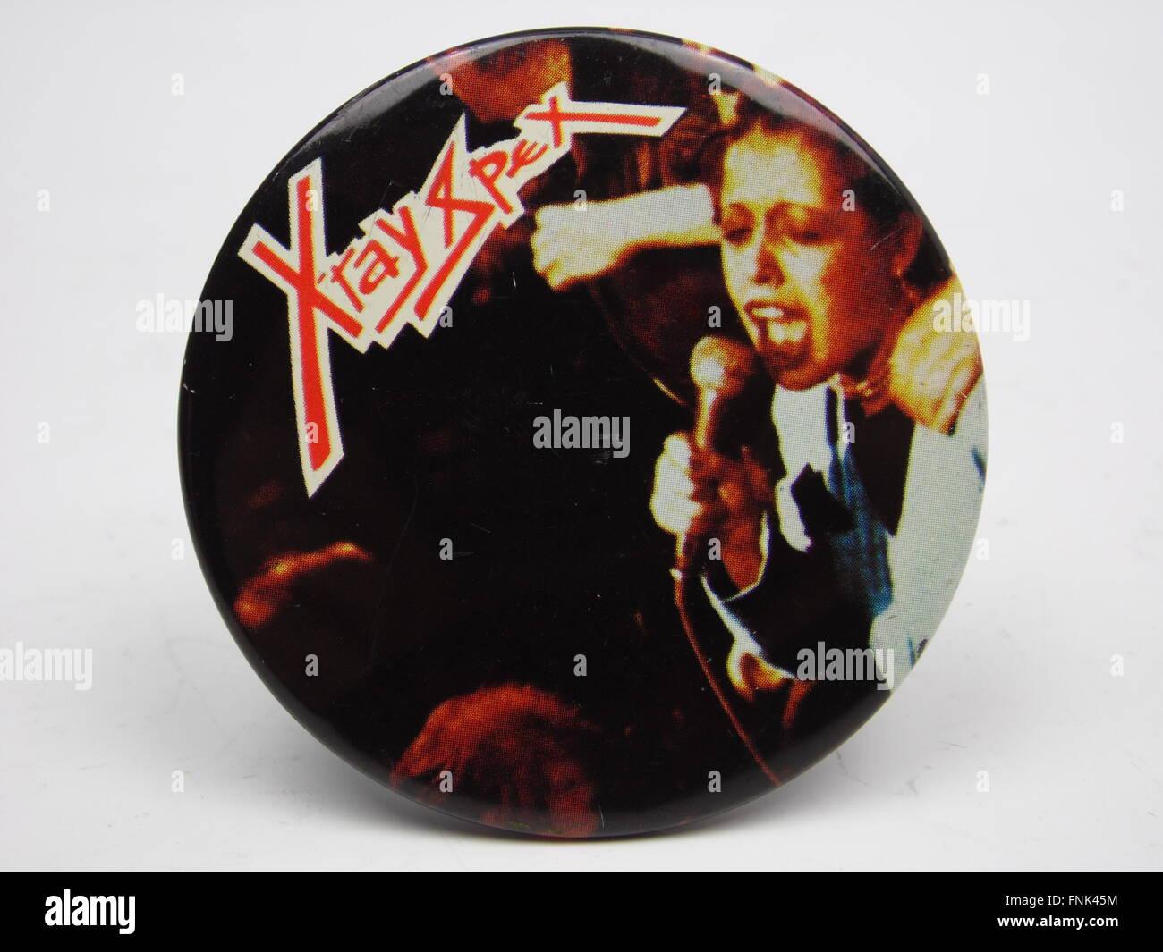 X-Ray Spex badge - Stock Image