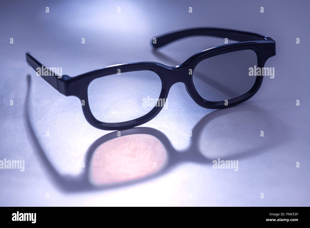 3D glasses concept close up - Stock Image