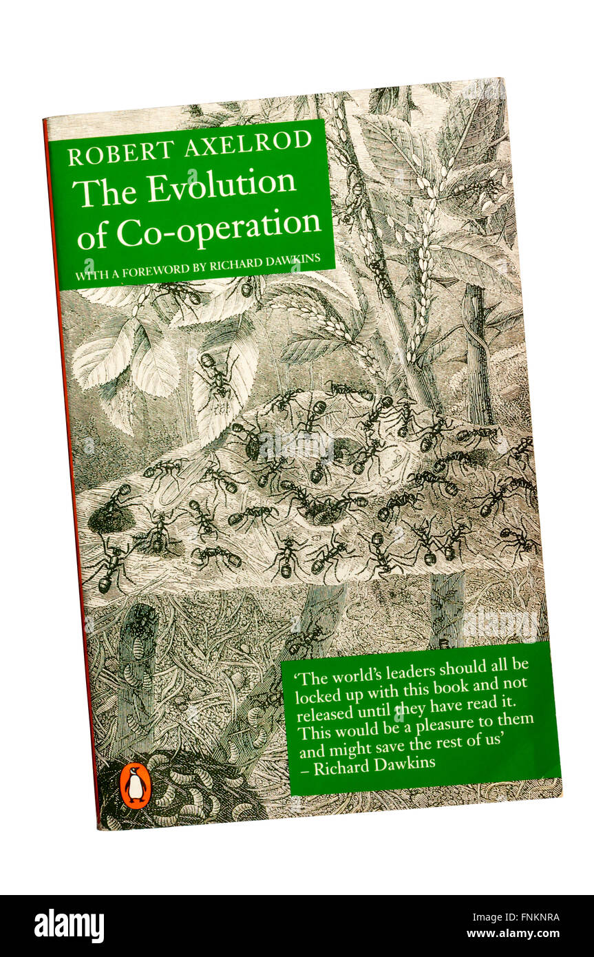 A copy of The Evolution of Co-operation by Robert Axelrod. - Stock Image