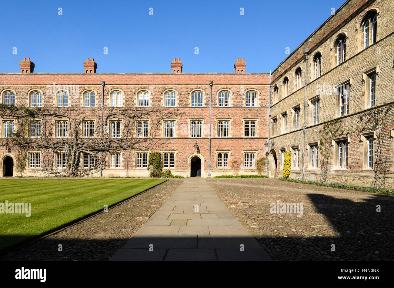 Jesus College, University of Cambridge, Cambridge, England, UK.Stock Photo