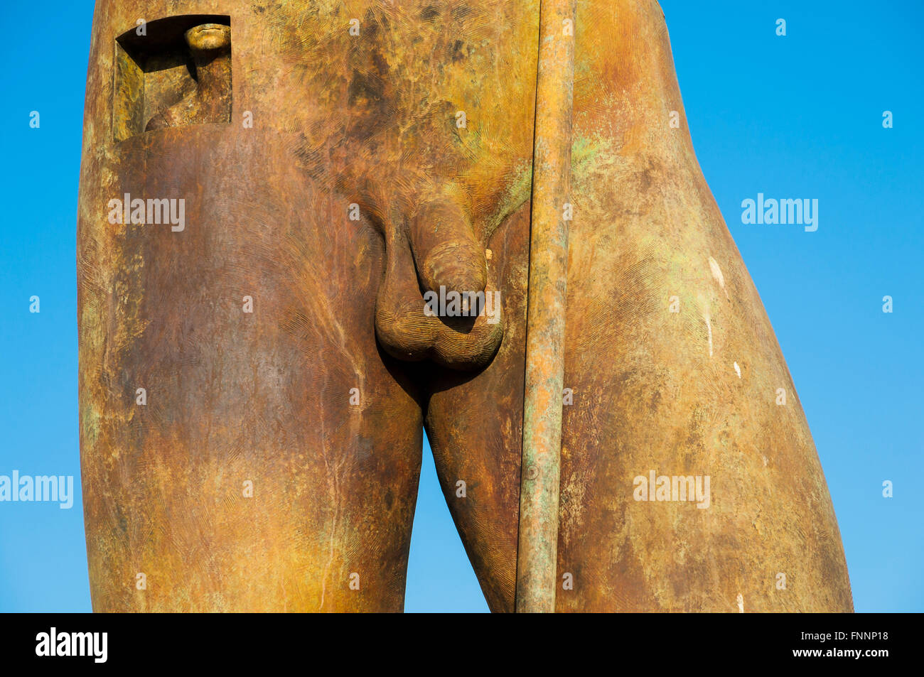 Detail of Daedalus, bronze sculpture by Igor Mitoraj. Valley of the Temples. Agrigento. Sicily. Italy - Stock Image