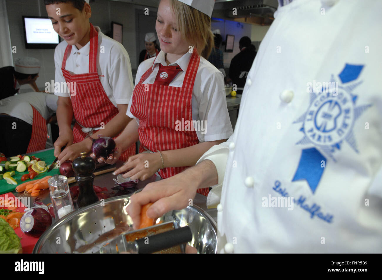 Prestigious Culinary Scholarship offered by Le Cordon Bleu shines spotlight on today's ambitious youth - Stock Image