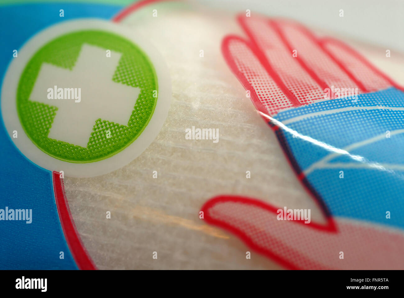 A pack of bandage used in emergencies and accidents. - Stock Image