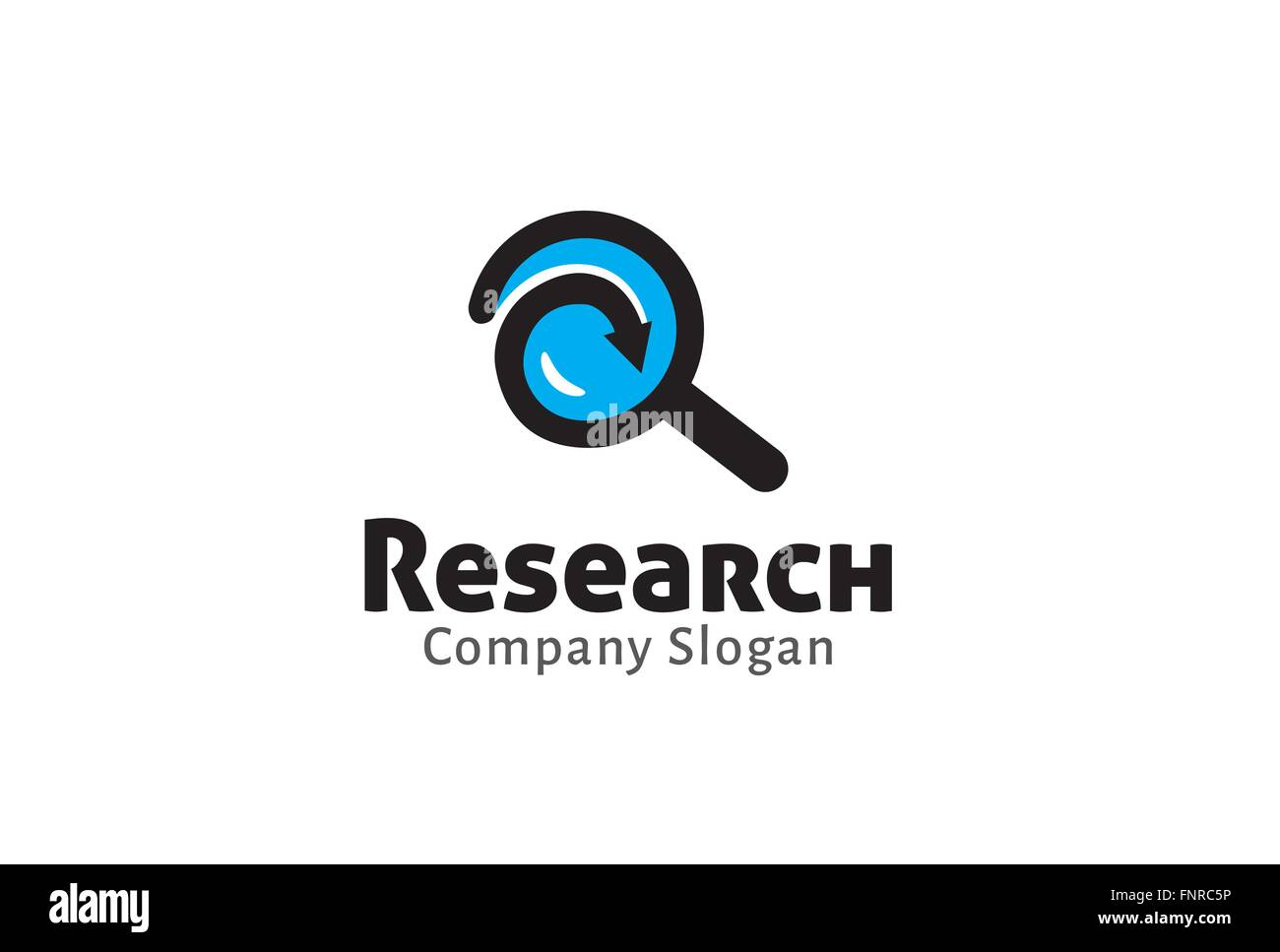 Magnifying Search Design Illustration - Stock Vector