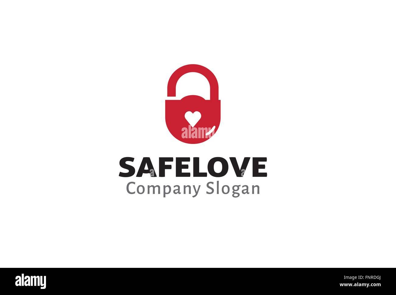 Safe Love Design Illustration - Stock Vector
