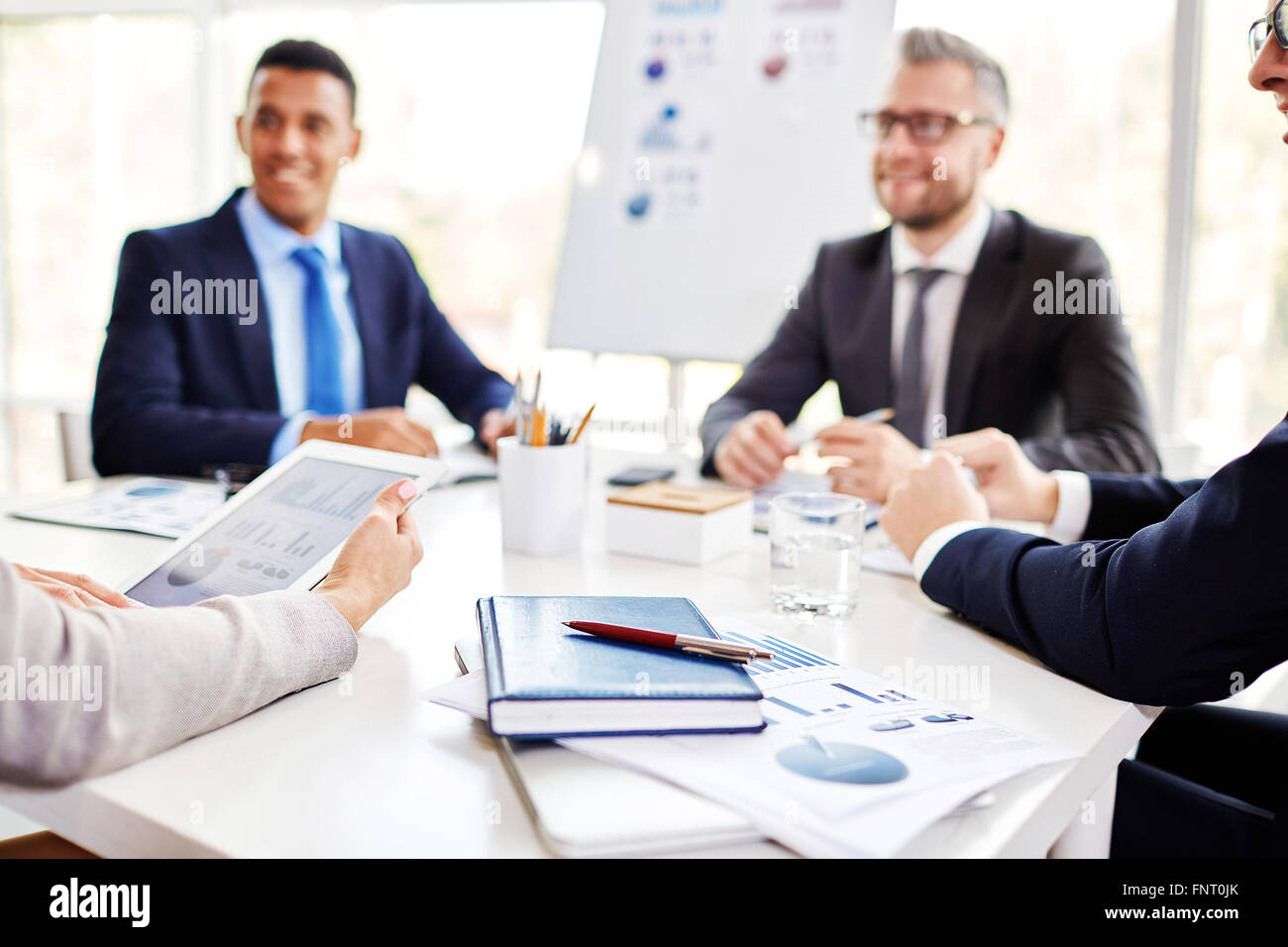 Business people planning work together at the table - Stock Image