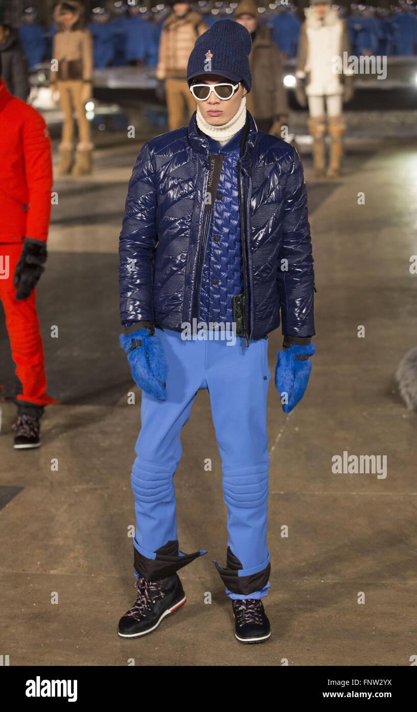 2d5668593 New York Fashion Week Fall/Winter 2016 - Moncler Grenoble Stock ...