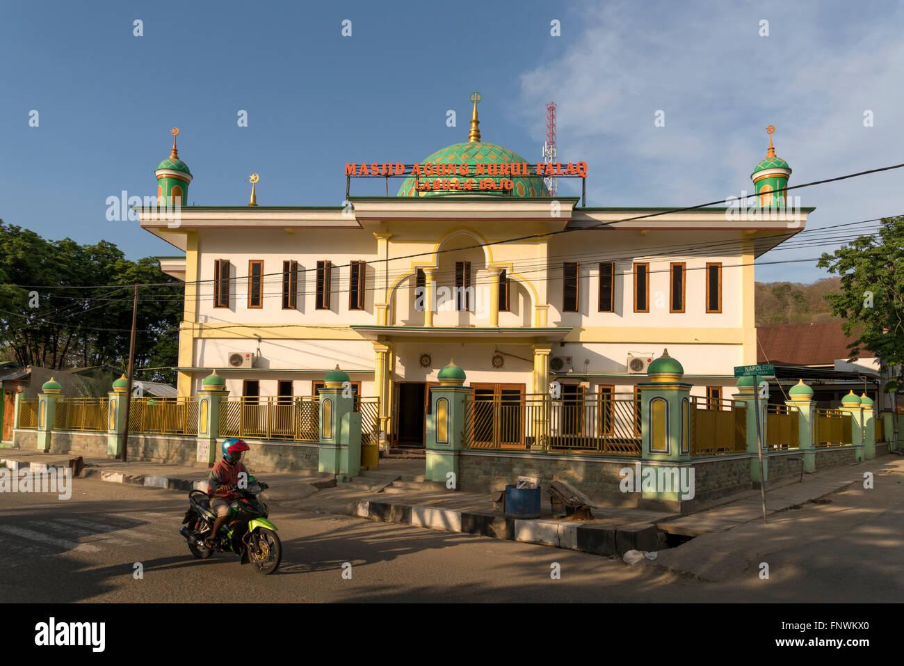 mosque Masjid Agung Nurul Falaq, Labuan Bajo, Flores, Indonesia, Asia - Stock Image