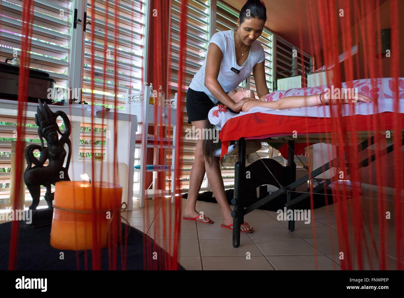 Spa, wellness, massages in Meridien Hotel on the island of Tahiti, French Polynesia, Tahiti Nui, Society Islands, Stock Photo