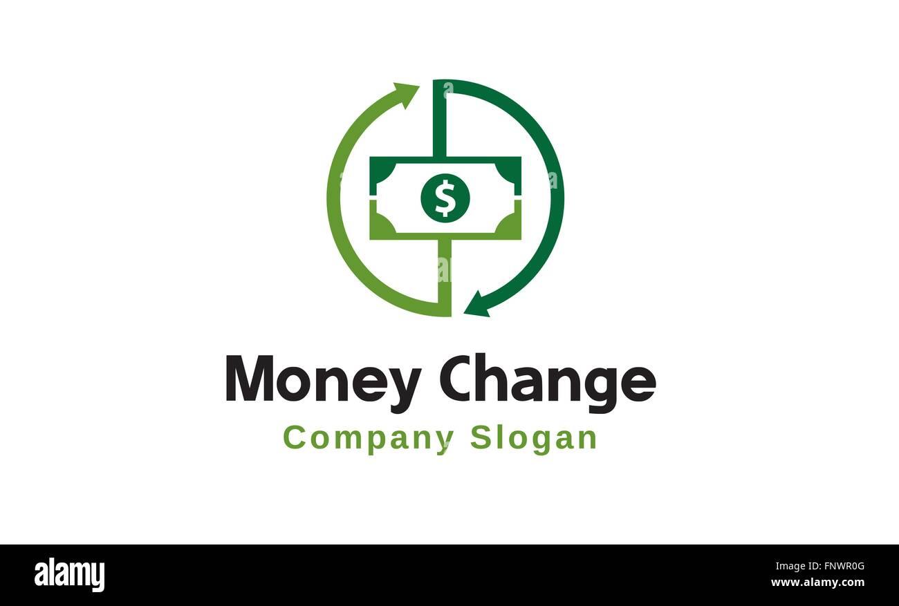 Money Change Logo illustration - Stock Image