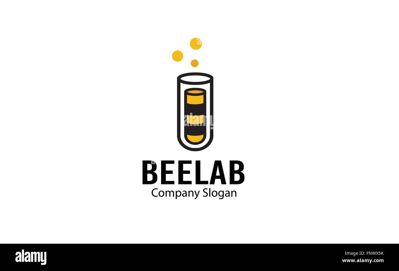 Bee laboratory Design Illustration - Stock Vector