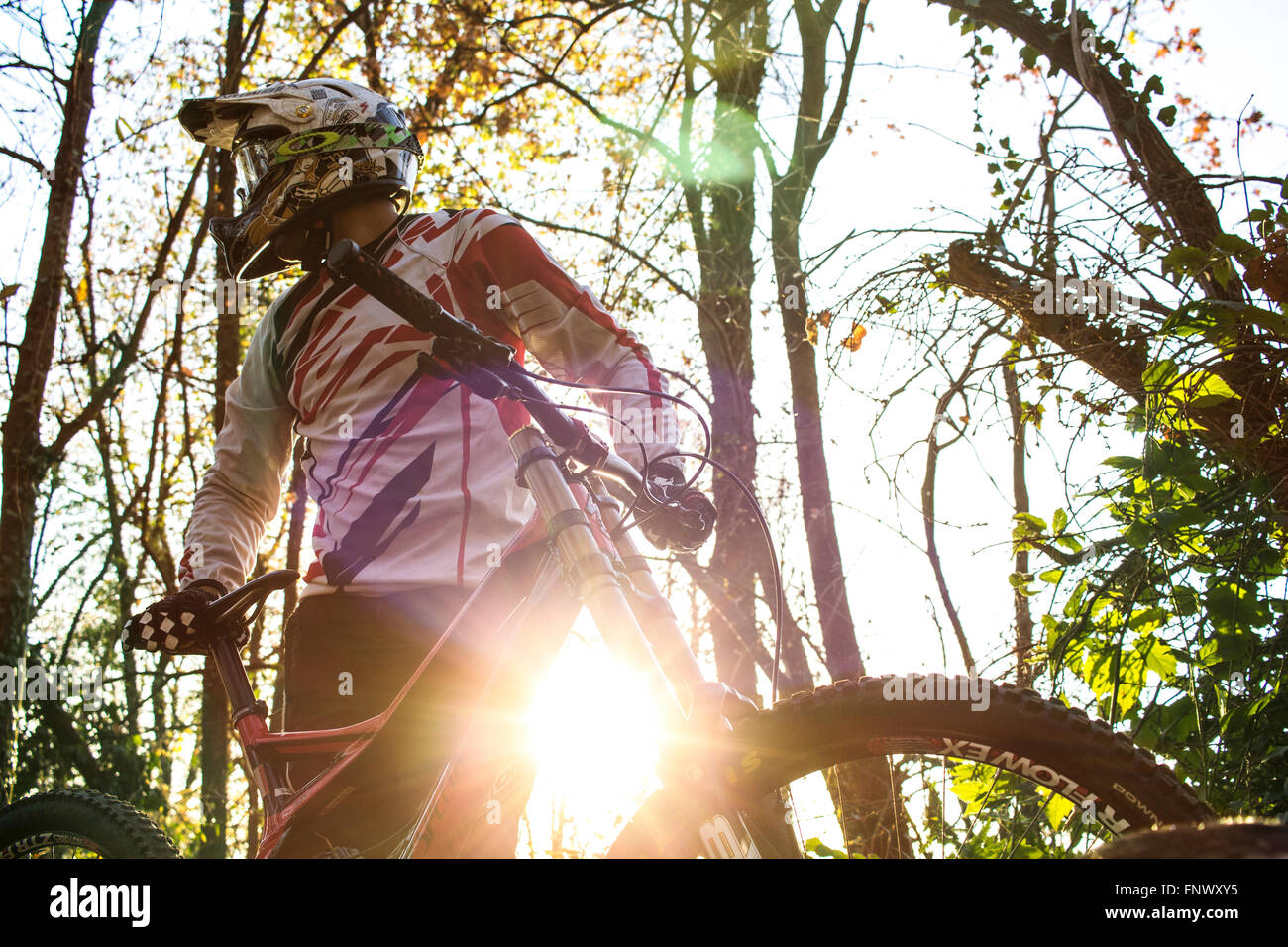 MTB boy. Italy, 2015. - Stock Image