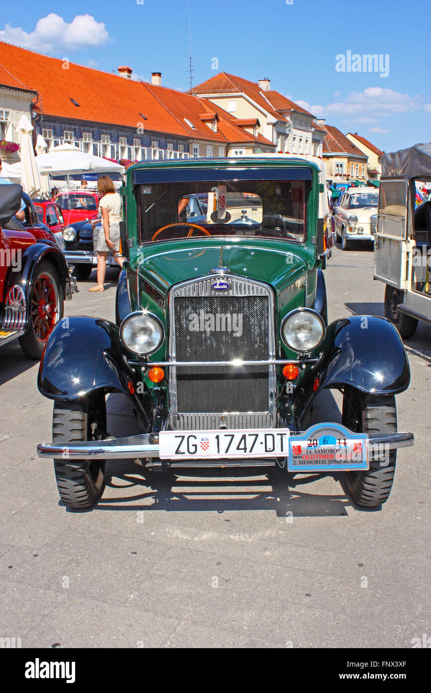 CROATIA SAMOBOR, 17 JULY 2011: Luxury Car Laurin and Clement, Skoda 120, ''14. Oldtimer Rally'' - Stock Image