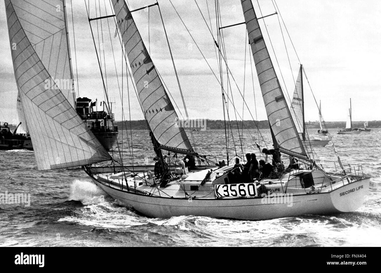 AJAX NEWS PHOTOS. 1973. PORTSMOUTH, ENGLAND. - WHITBREAD ROUND THE WORLD RACE - SECOND LIFE (GB) AN OCEAN 71 KETCH, - Stock Image