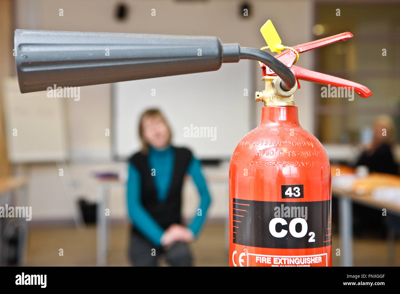 Co2 Fire extinguisher - Stock Image