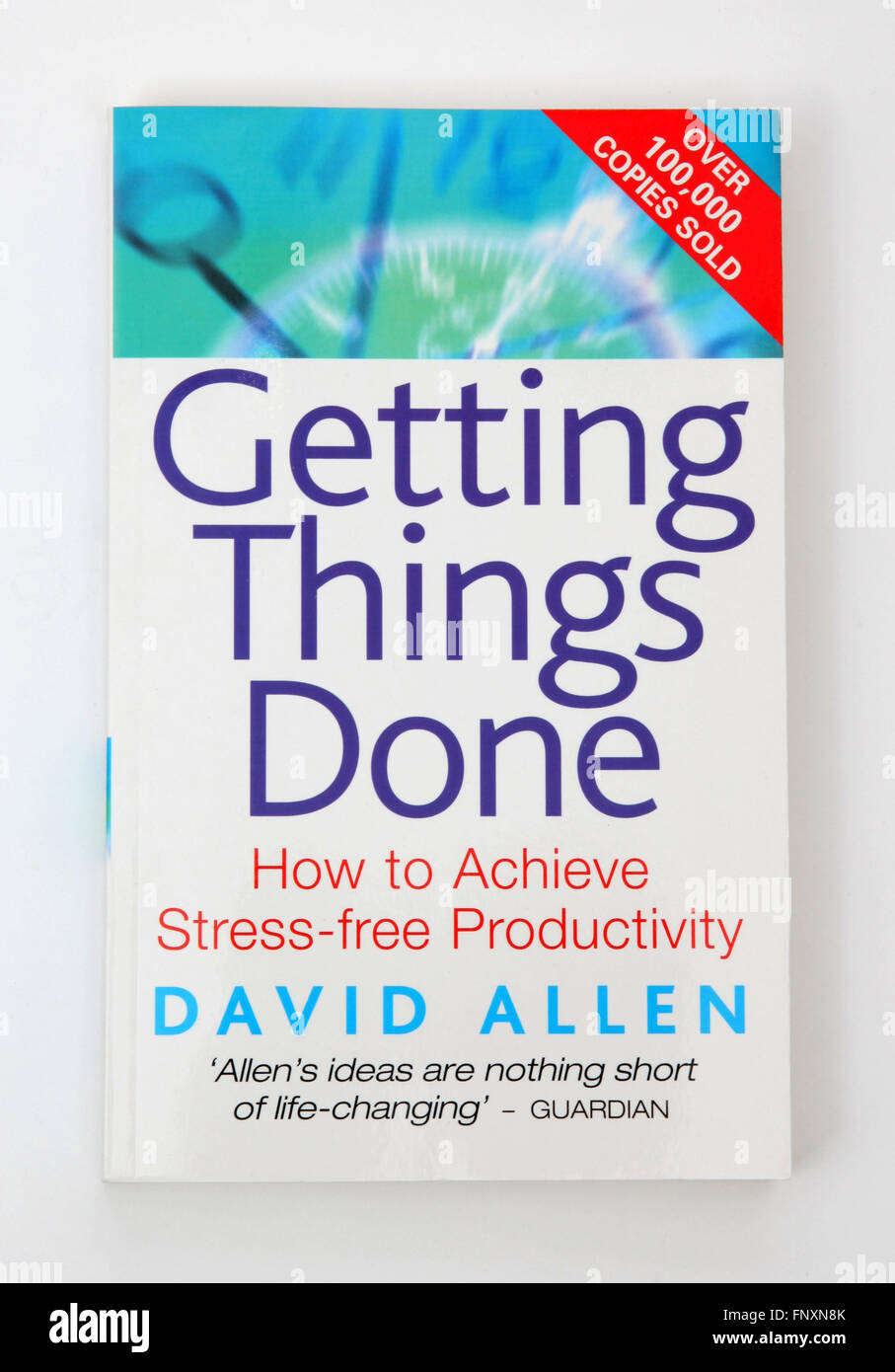 The book - Getting Things Done by David Allen - Stock Image
