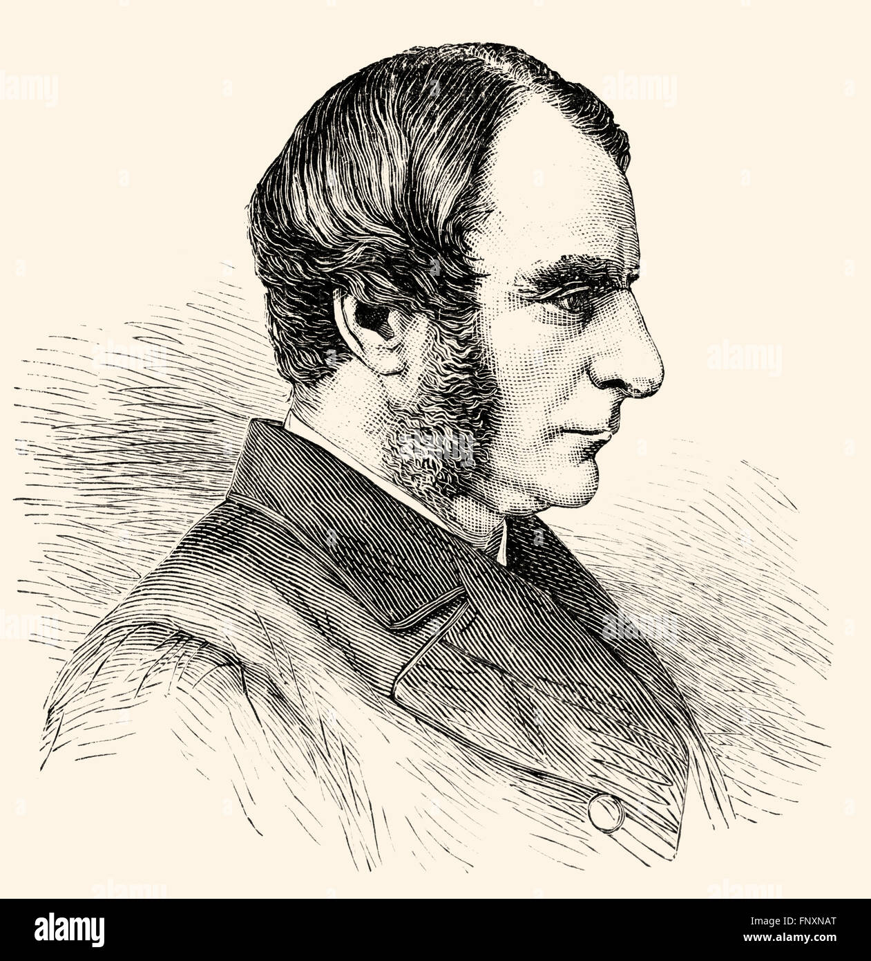 Charles Kingsley, 1819 - 1875, an English theologian and writer - Stock Image