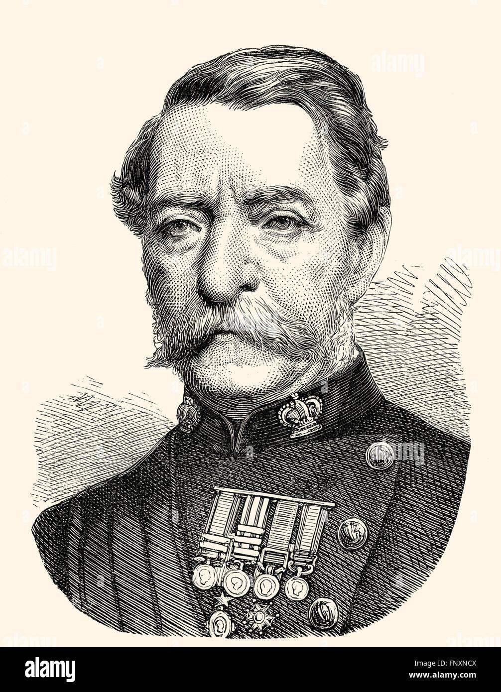 Robert Cornelis Napier, 1st Baron of Magdala, 1810 - 1890, a British field marshal - Stock Image