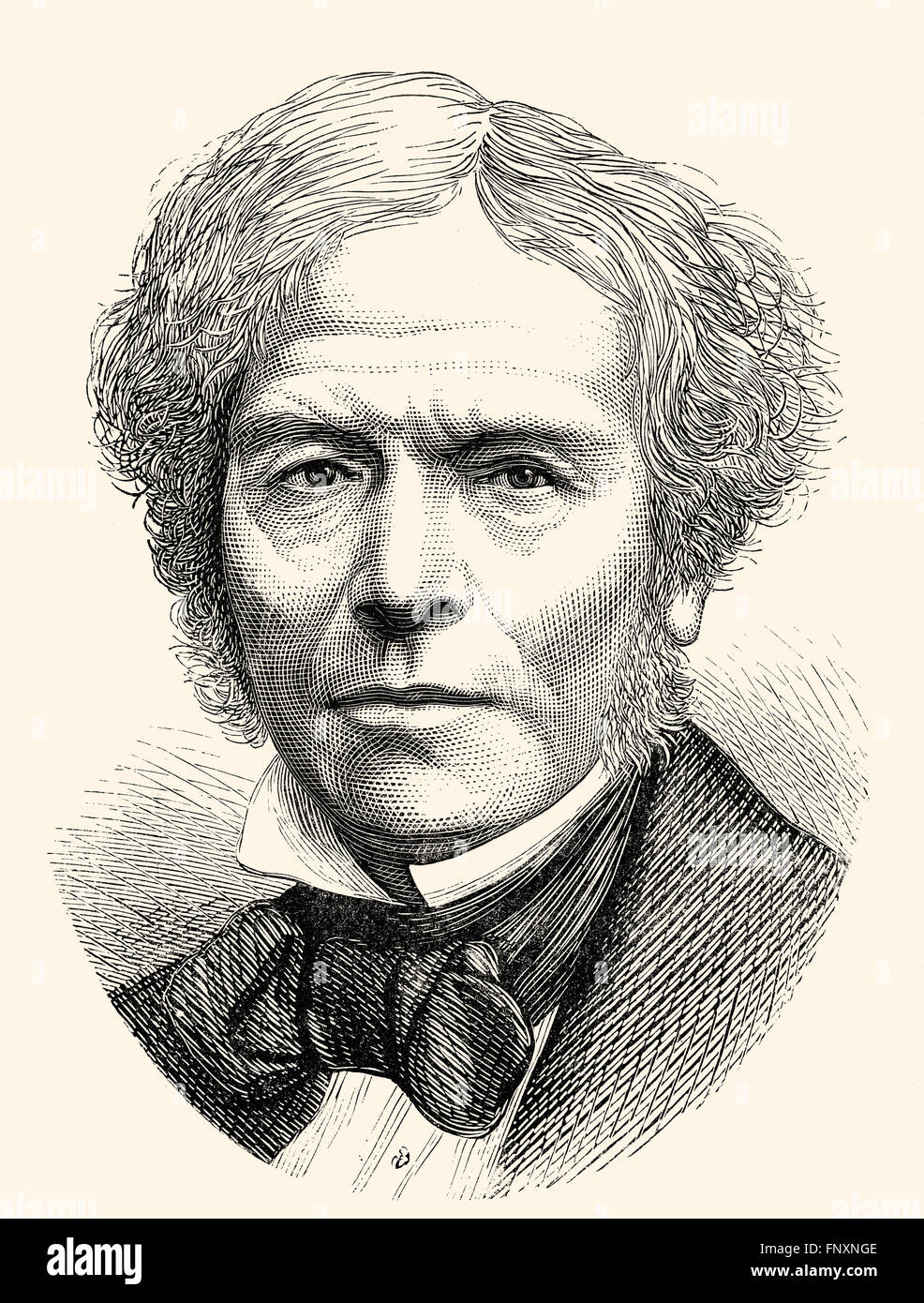Michael Faraday, 1791 - 1867, an English scientist - Stock Image