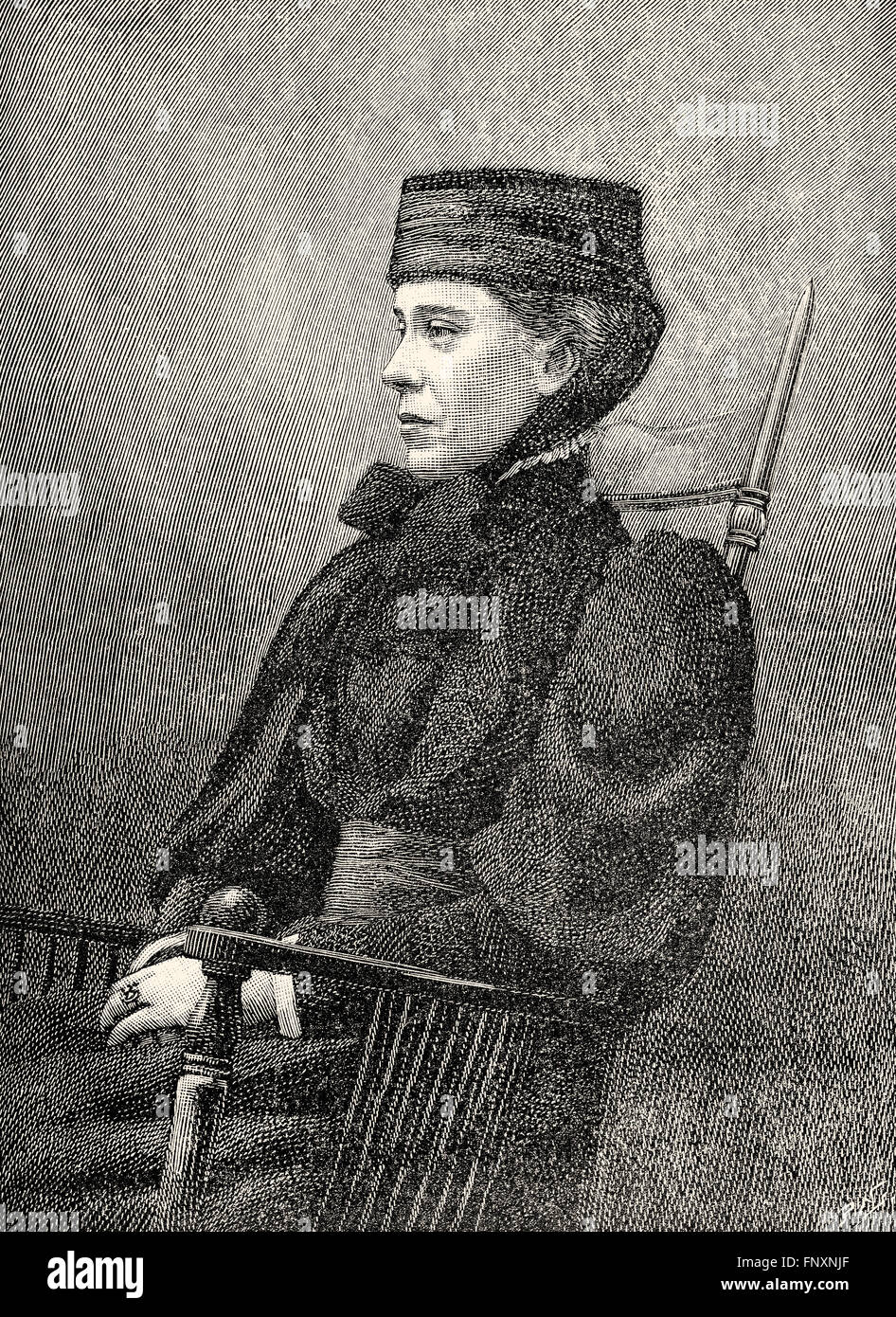 Mary Henrietta Kingsley, 1862-1900, an English ethnographic and scientific writer and explorer - Stock Image