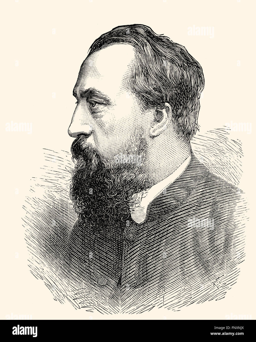 John George Wood, or Rev J. G. Wood, 1827-1889, an English writer - Stock Image
