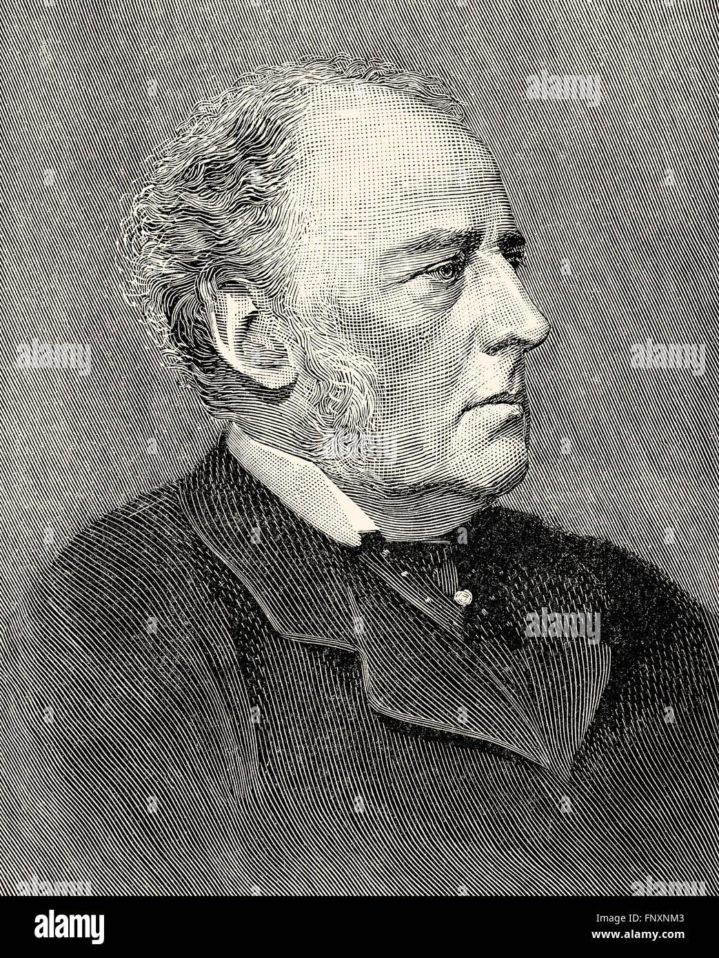 Sir John Everett Millais, 1st Baronet, 1829-1896, an English painter and illustrator Stock Photo